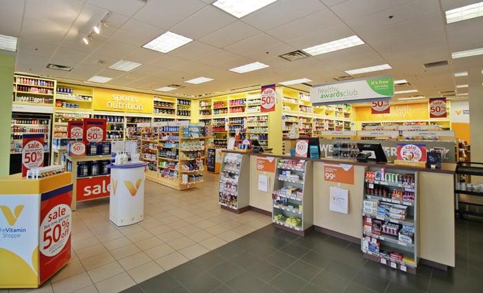 Compra de suplementos na Vitamin Shoppe em San Francisco