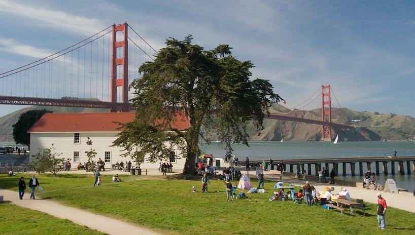 Ponte Golden Gate em um roteiro em San Francisco