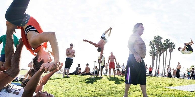 Atividade física em Venice Beach