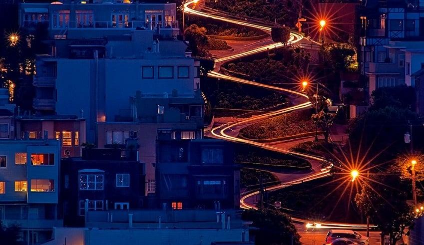 Lombard Street em um roteiro em San Francisco
