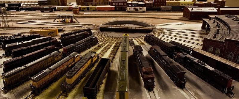 Exposições no Museu Model Railroad em San Diego
