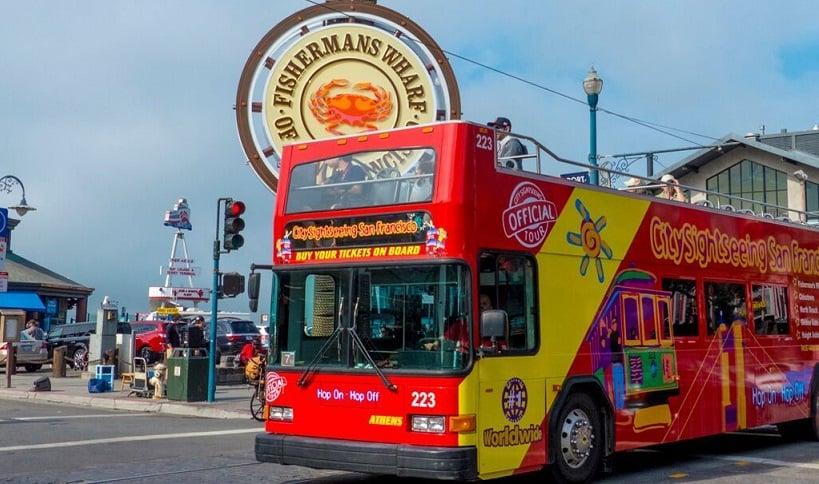 Passeio de ônibus turístico em San Francisco