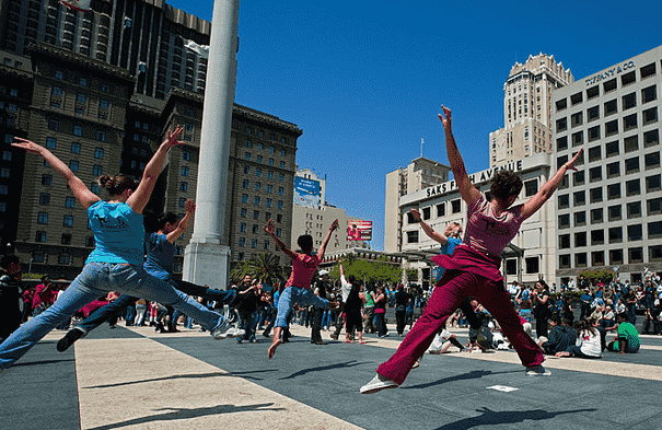 Bay Area Dance Week em abril em San Francisco