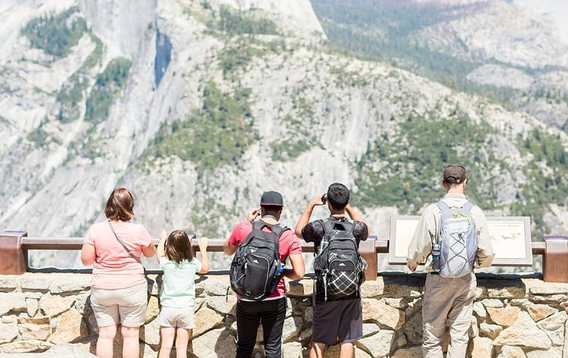 Atrativos no Parque Nacional de Yosemite na Califórnia