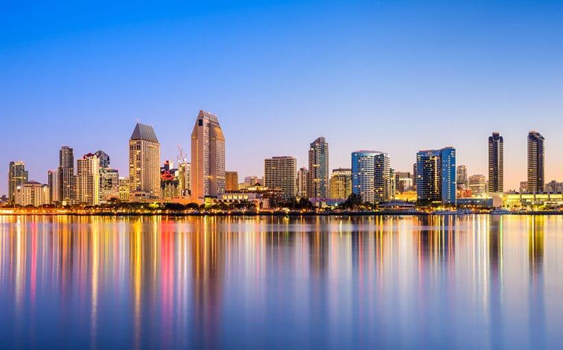 Condições climáticas no mês de janeiro em San Diego