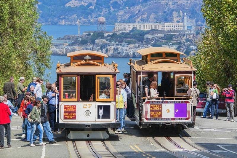 Movimentação de turistas no mês de abril em San Francisco