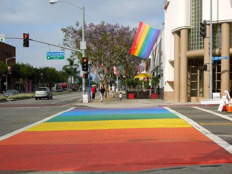 Região West Hollywood em Los Angeles