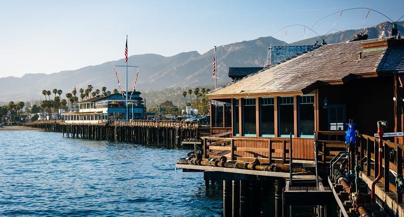 Stearns Wharf em um roteiro de viagem em Santa Bárbara