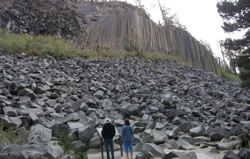 Devils Postpile em Mammoth Lakes na Califórnia