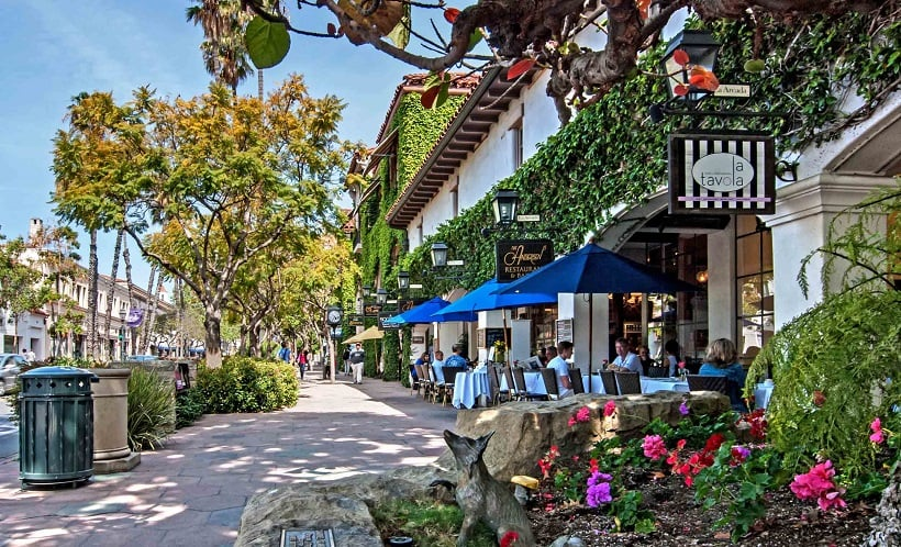 Rua State Street em Santa Bárbara