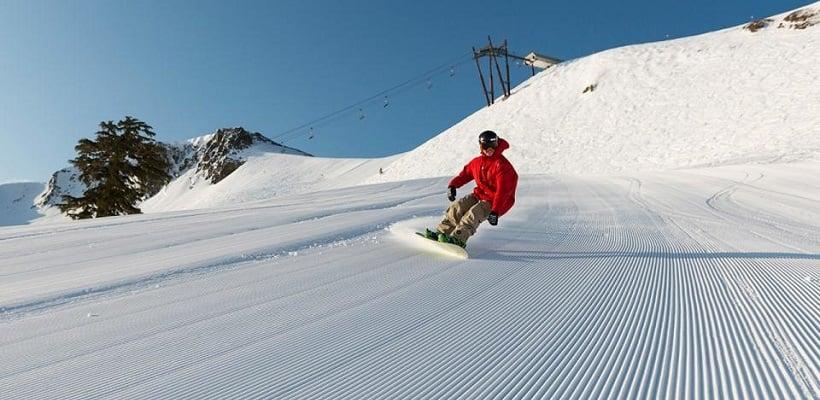 Esquiar em Squaw Valley na Califórnia