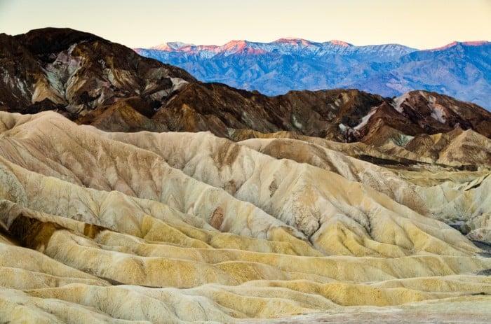 Atrações no Parque Nacional do Vale da Morte na Califórnia