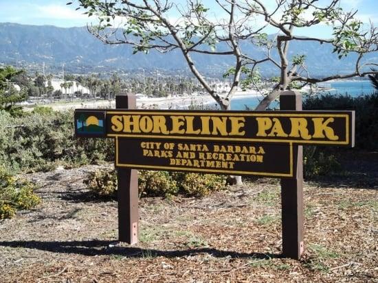 Fachada do Parque Shoreline em Santa Bárbara