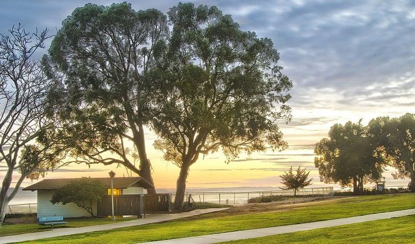 Vista do Parque Shoreline em Santa Bárbara