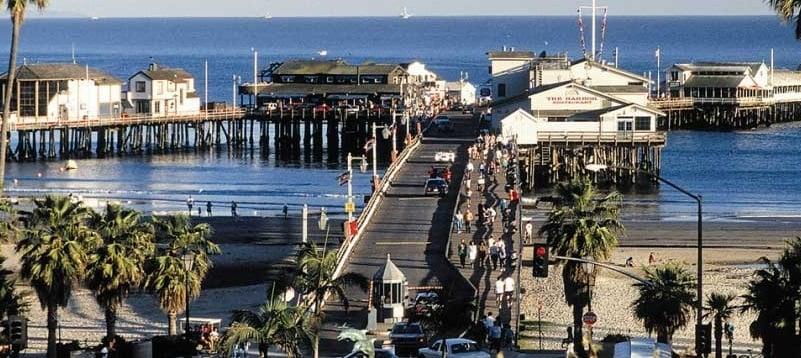 Passeio pelo Pier Stearns Wharf em Santa Bárbara