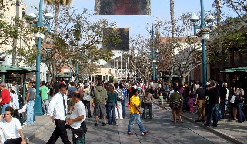 Visita a Third Street Promenade em Santa Mônica
