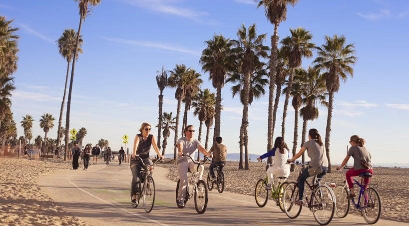 Tour de bicicleta na 26-Mile Bike Path em Santa Mônica