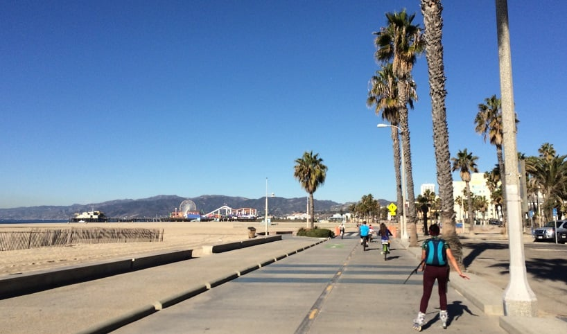 Turismo na 26-Mile Bike Path em Santa Mônica