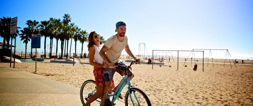 Passeio de bicicleta na 26-Mile Bike Path em Santa Mônica