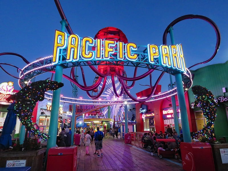 Pacific Park em Santa Mônica