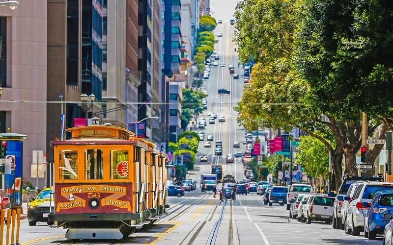 Movimentação de turistas no mês de agosto em San Francisco