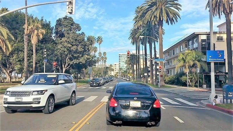 Dirigir em Santa Mônica e na Califórnia