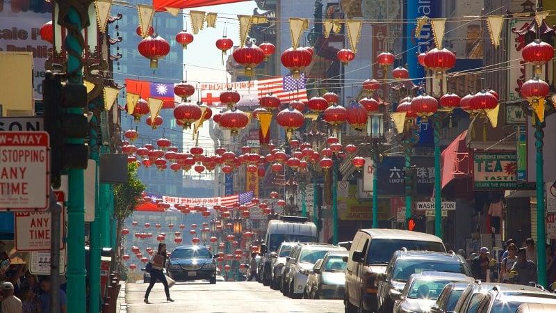 Visita a Chinatown e Japan Town no verão em San Francisco