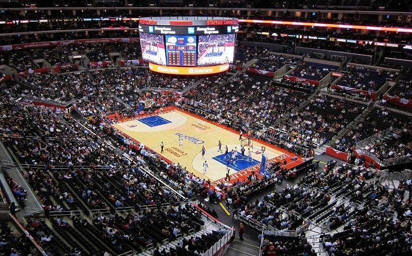 Staples Center em Los Angeles na Califórnia