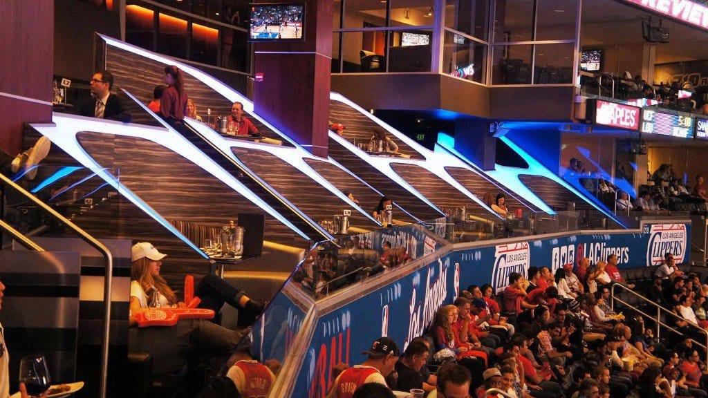 Estádio para assistir o jogo do Los Angeles Lakers da NBA