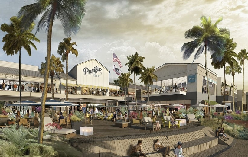 Compras no Pacific City em Huntington Beach