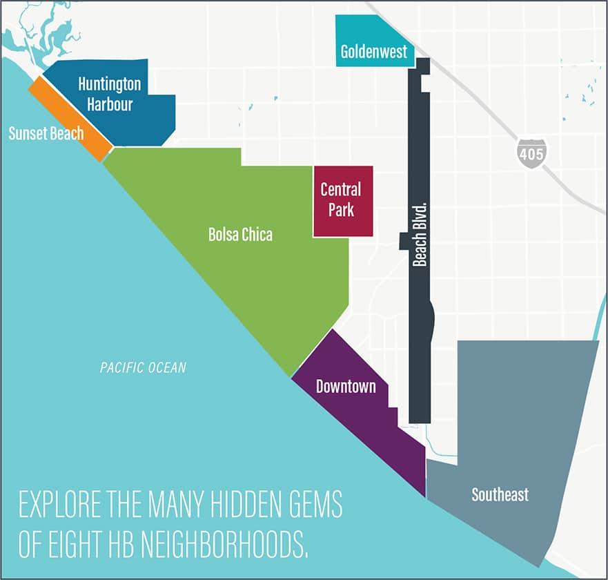 Melhor região onde ficar em Huntington Beach