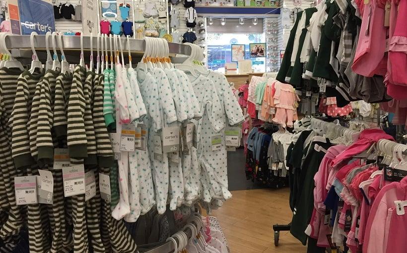 Loja Carter's para o enxoval do bebe na Califórnia
