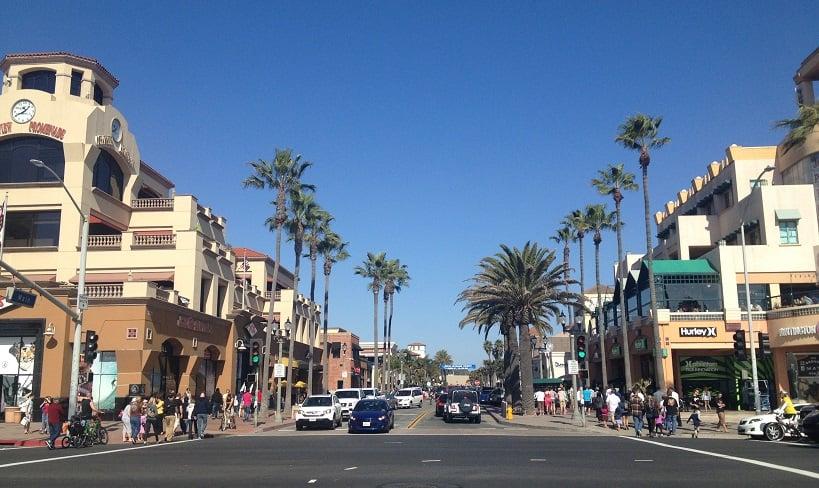 Compras no Downtown Beach em Huntington Beach
