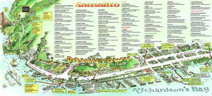 Ficar hospedado no centro em Sausalito