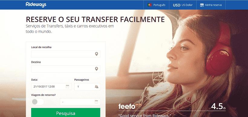 Site para adquirir o serviço de Transfer em Los Angeles