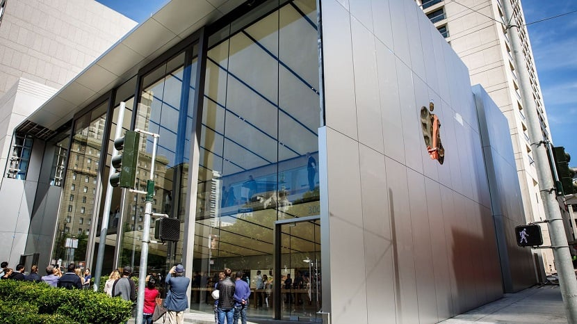 Loja da Apple para a compra de iPhone 8 em San Francisco
