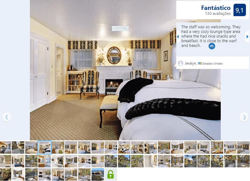 Hotel The Babbling Brook Inn para ficar em Santa Cruz