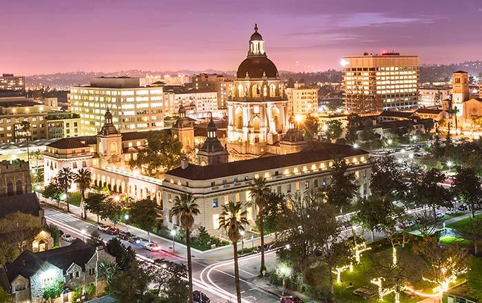Visita a Pasadena na Califórnia