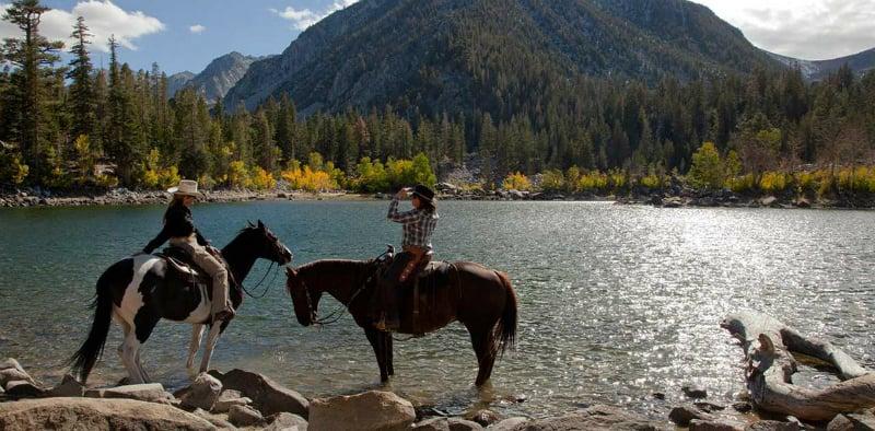 Cavalgada em Big Bear Mountain