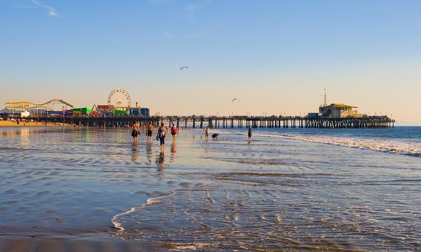 Visita a Santa Mônica na Califórnia