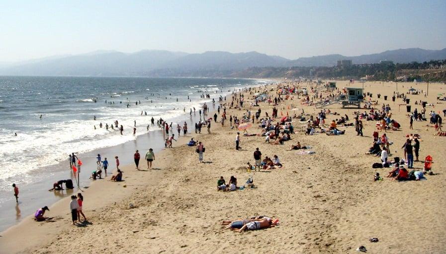 Praias em Santa Mônica na Califórnia