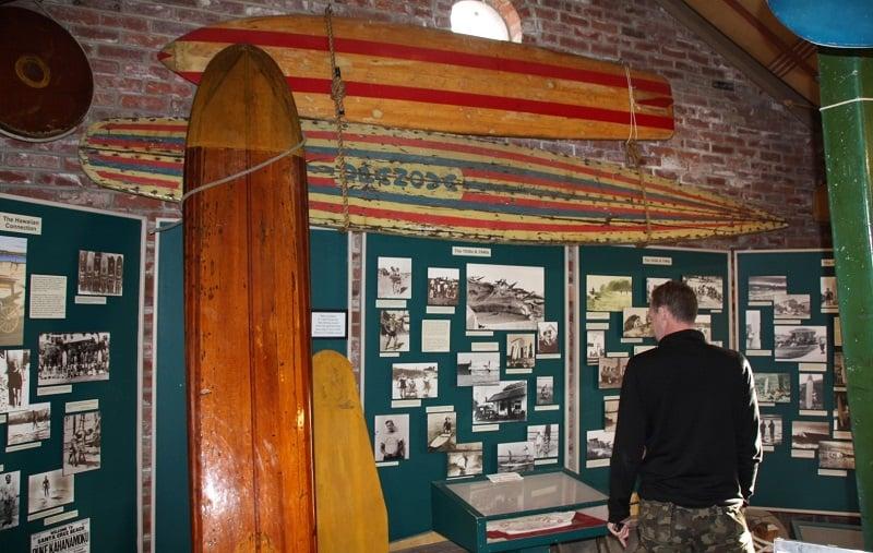 Ponto turístico Museu do Surfe em Santa Cruz