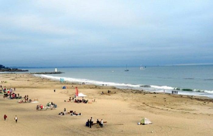 Ponto turístico praia em Santa Cruz