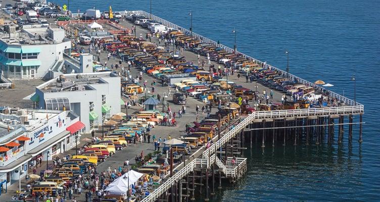 Lazer e entretenimento no Santa Cruz Wharf em Santa Cruz