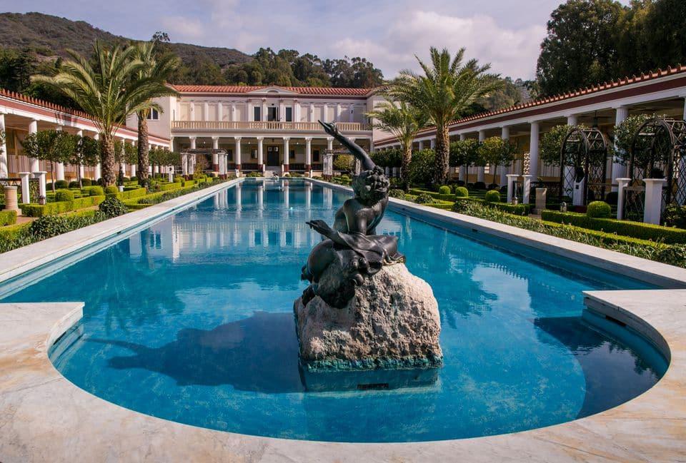 Visita a Villa Gety em Malibu