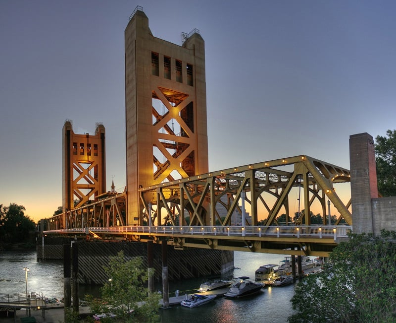 Visita a Tower Bridge em Sacramento