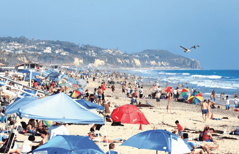 Curtição nas praias em Malibu