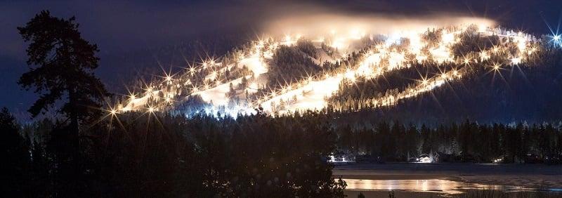 O que fazer a noite em Big Bear Mountain