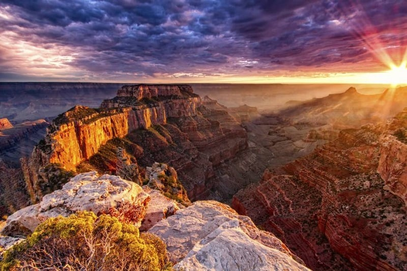 Pontos turísticos no Grand Canyon