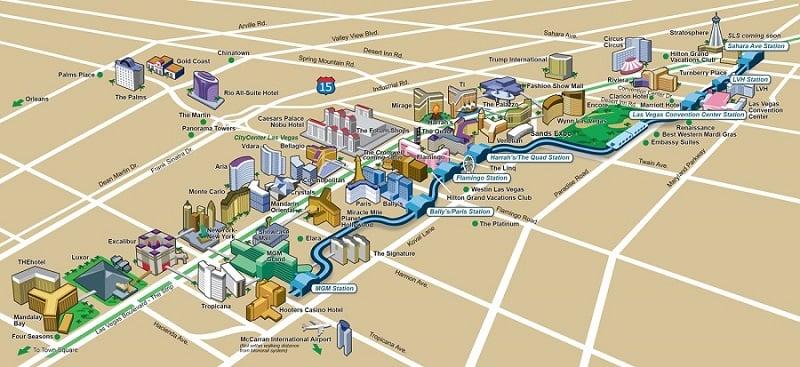 Melhores regiões para ficar em Las Vegas